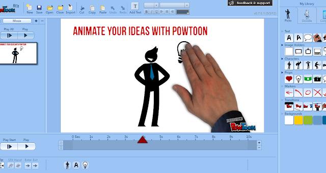 Membuat Presentasi Animasi Super Keren dan Hidup dengan Powtoon