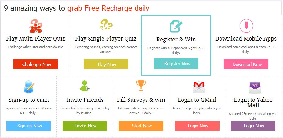 9 Ways To Free Recharge Your Mobile Number Daily