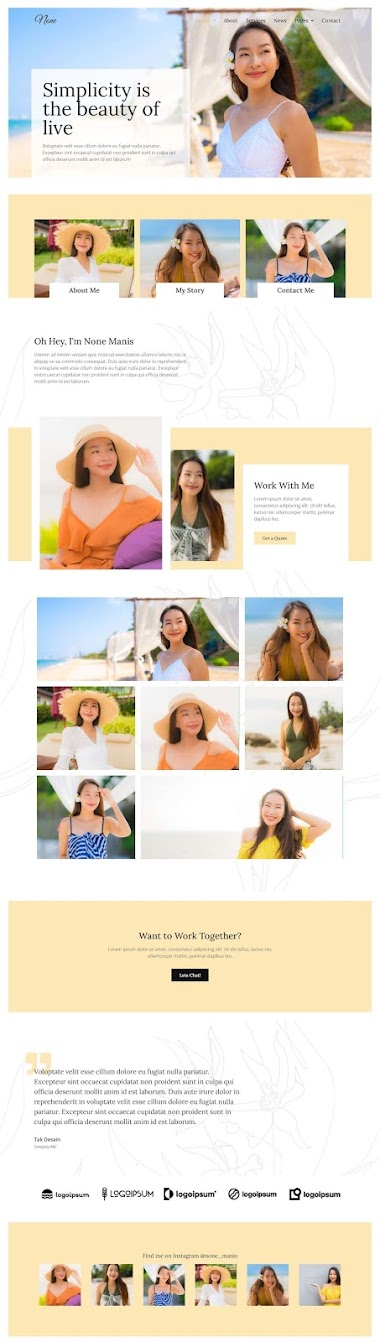Famous Influencer Or Instagrammer Website Design By AJ Agency