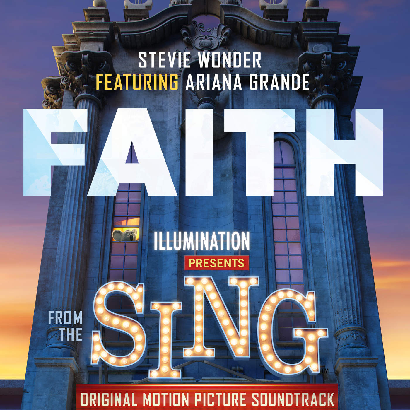 "Stevie Wonder - Faith (feat Ariana Grande) [From ""Sing""] - Single Cover"