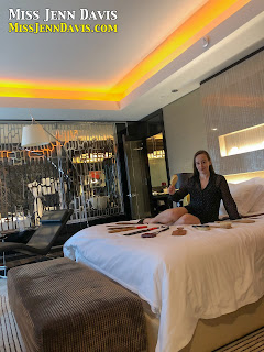 Miss Jenn with all her spanking implements in Las Vegas