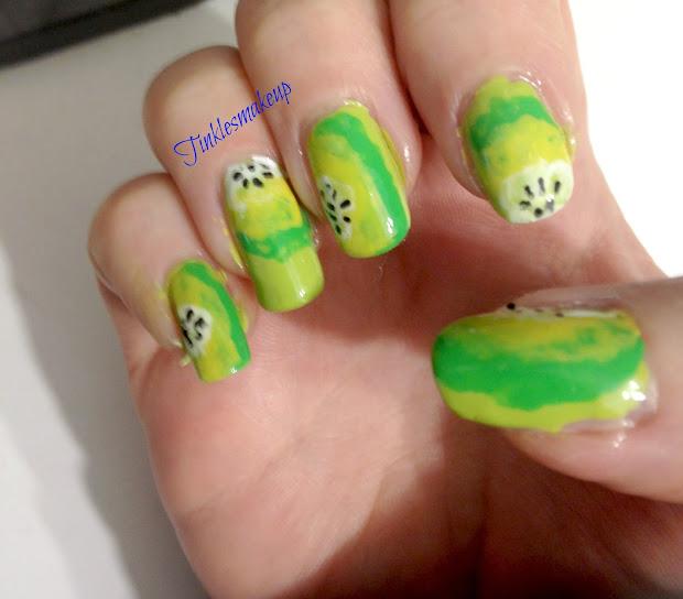 tinklesmakeup kiwi nail art