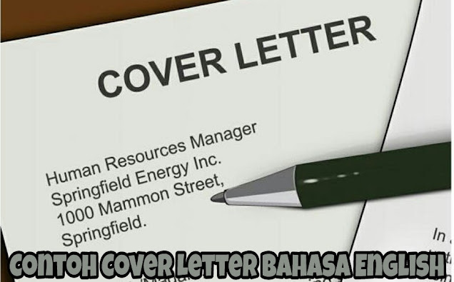 Contoh Cover Letter Bahasa English 2021