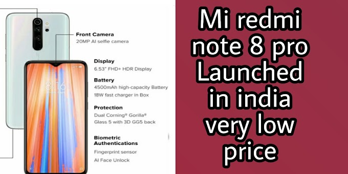 Mi redmi note 8 pro Launched in india very low price