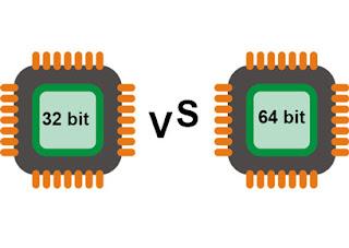 32 bit aur 64 bit processor me antar