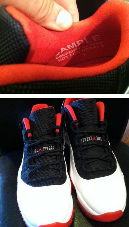 buy online 7e33c cdb03 Here is a look via Jisbintown of a pair of Unreleased Air Jordan 11 Retro  Low White  Black- True Red Sample Sneakers, these are real sick in my  opinion!