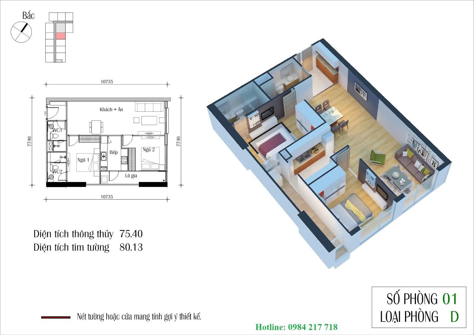 SƠ ĐỒ MẶT BẰNG THIẾT KẾ Căn hộ 1001 tòa ct1 Chung cu Nguyen Xien
