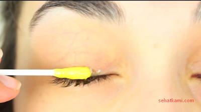 cara melebatkan bulu mata dengan telur