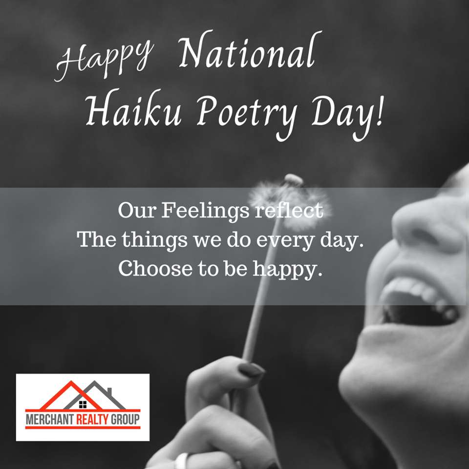 National Haiku Poetry Day Wishes Unique Image