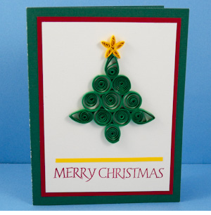 simple quilling merry christmas greeting card designs - quillingpaperdesigns