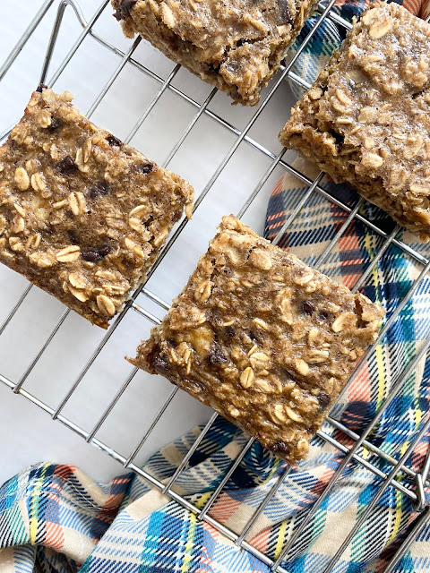 healthy peanut butter banana bars