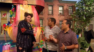 Alan, Chris, Oscar the Grouch, Mr. Disgracey, Richard Kind, the Maysour float, Sesame Street Episode 4324 Trashgiving Day season 43