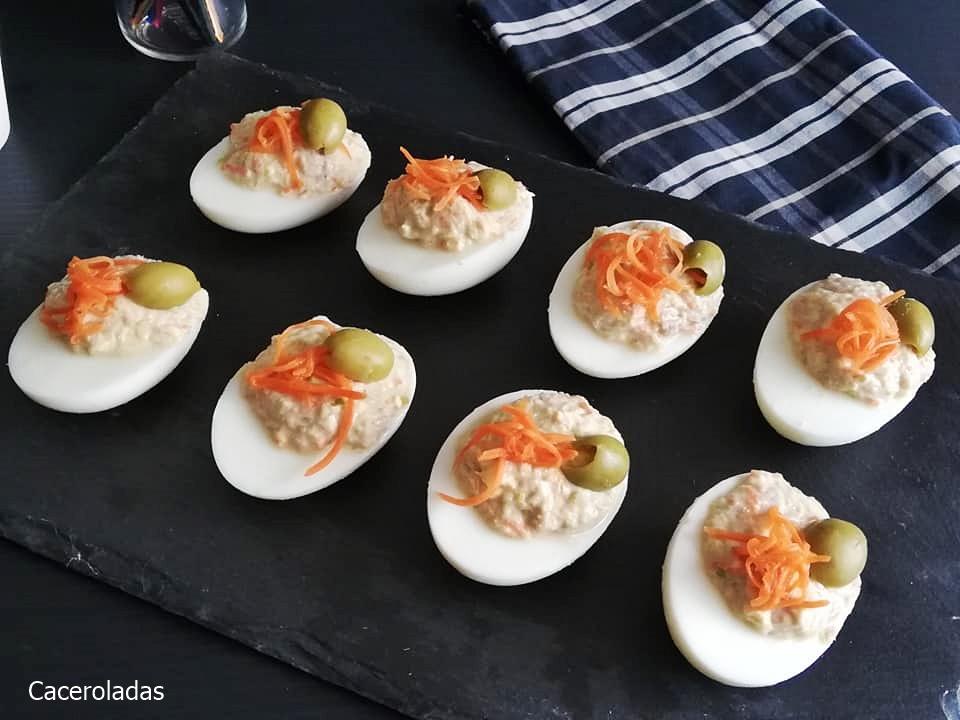 Receta de huevos rellenos fríos para aperitivos