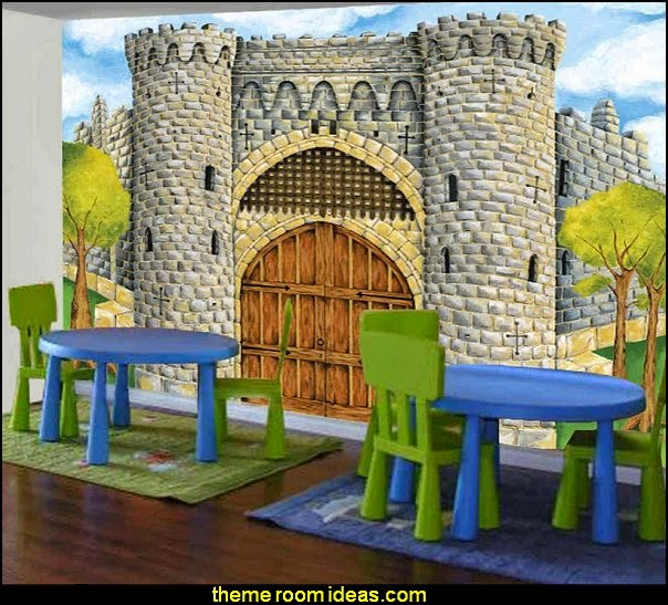 Medieval Castle Full Wall Size Mural Photo
