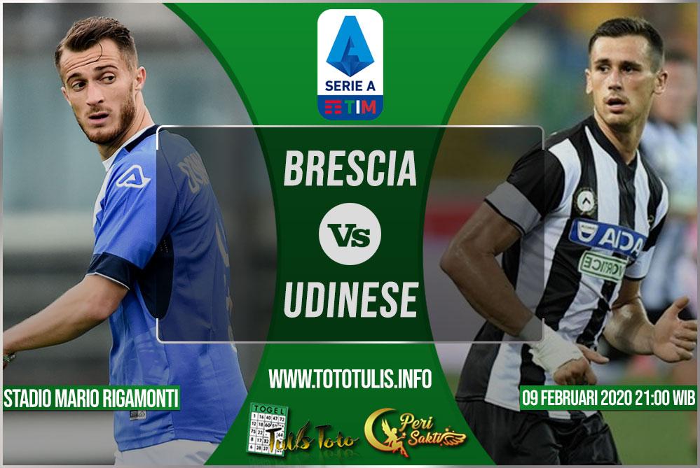 Prediksi Brescia vs Udinese 09 Februari 2020