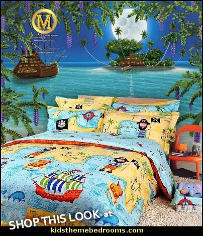 Pirates of the Caribbean Duvet Cover Set Sky blue Boys Bedding Kids Bedding pirates  pirate bedroom decorating ideas - pirate themed furniture - nautical theme decorating ideas - pirate theme bedroom decor - Peter Pan - Jake and the Never Land Pirates - pirate ship beds - boat beds - pirate bedroom decorating ideas - pirate costumes