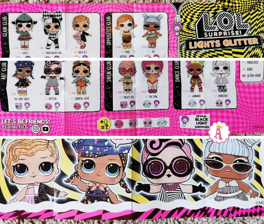 Вкладыш коллекционера с именами L.O.L. Surprise Lights Glitter 2020