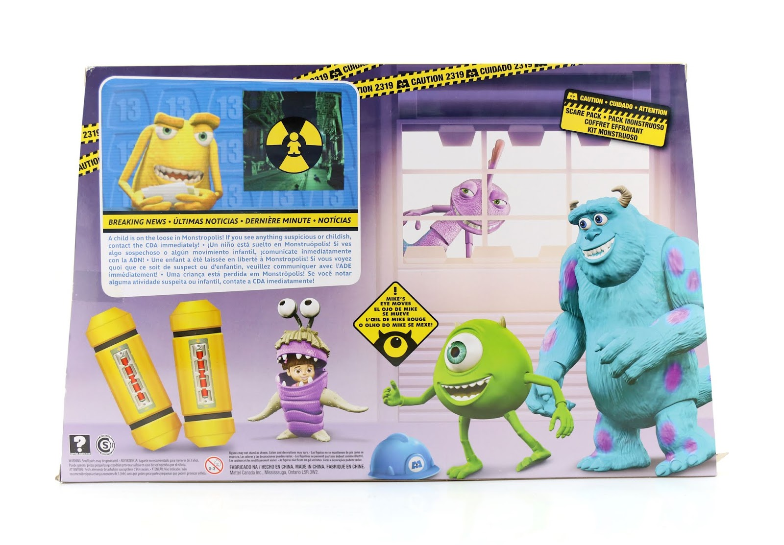 mattel monsters inc scare pack action figures