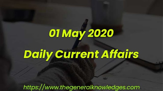 01 May 2020 Current Affairs Questions and Answers in Hindi