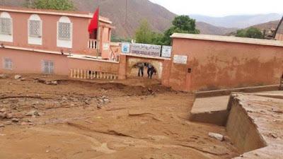 بسبب الفياضانات:تعليق الدراسة في المؤسسات التعليمية التابعة لإقليم تارودانت اليوم الخميس
