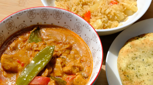 Peanunt Butter Curry in a bowl on a sunny day