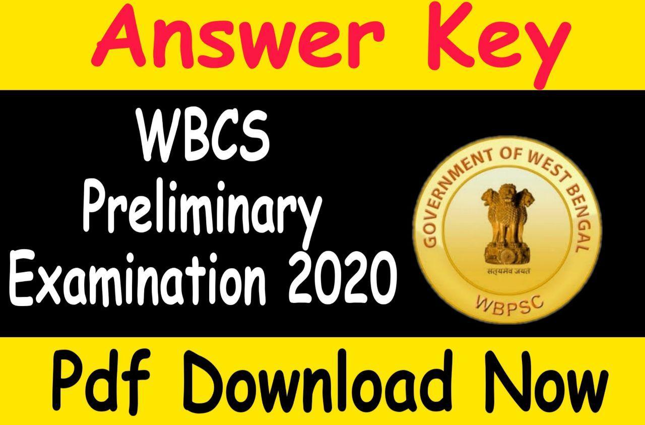 Wbcs Preliminary 2020 Answer Key