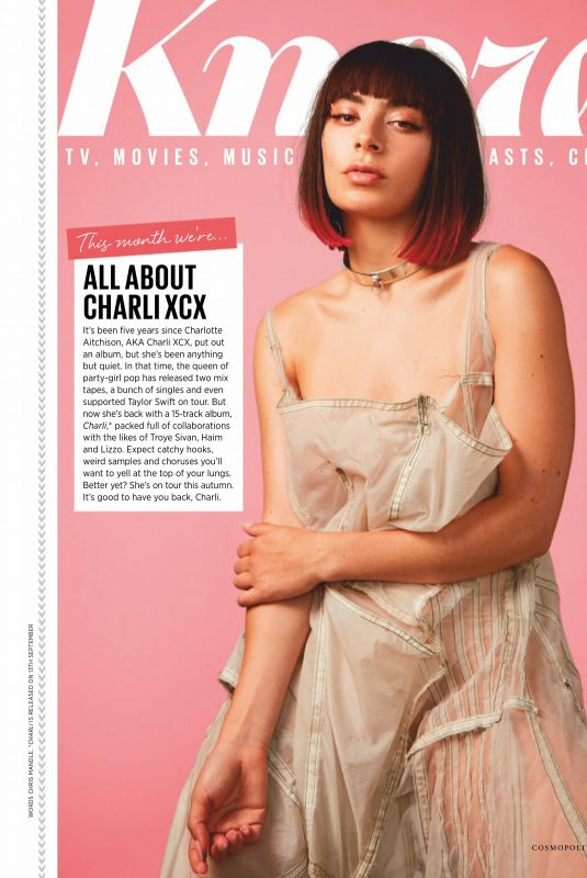 Charli XCX Clicked on the Cover of Cosmopolitan Magaziine - UK October 2019