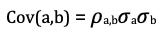 formula covarianza