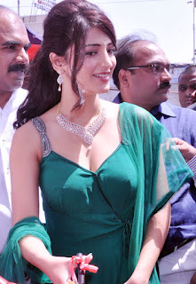 sruthi hasan hot exclusive pics at malabar gold opening