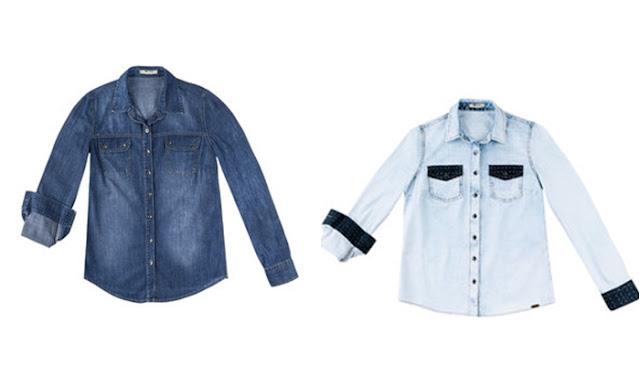 Lojas que vendem camisas jeans femininas