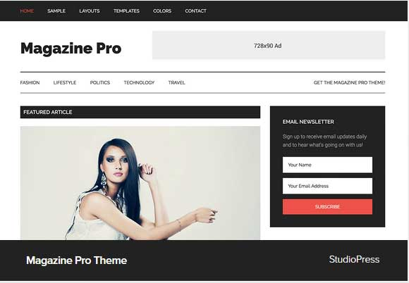 Magazine Pro theme Award Winning Pro Themes for Wordpress Blog :Award Winning Blog