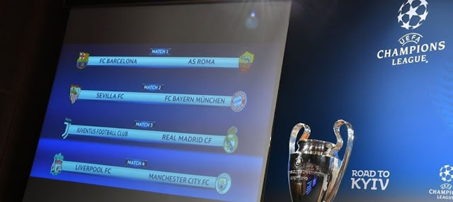 #UCLDraw: UEFA Champions League quarter-final draw (See All Match details)