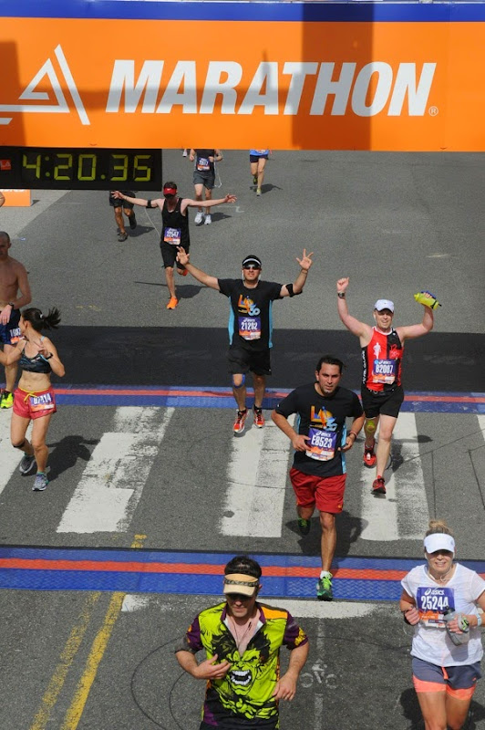 Crossing LA Marathon 2015 Finish Line