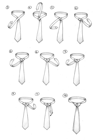 How to Tie A Tie : A FISHBONE KNOT