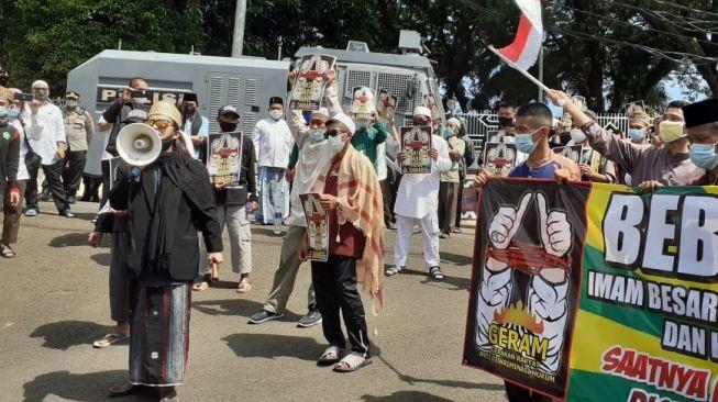 Elemen GERAM Lampung Tuding Pemerintah Lakukan Diskriminasi kepada Habib Rizieq di Persidangan