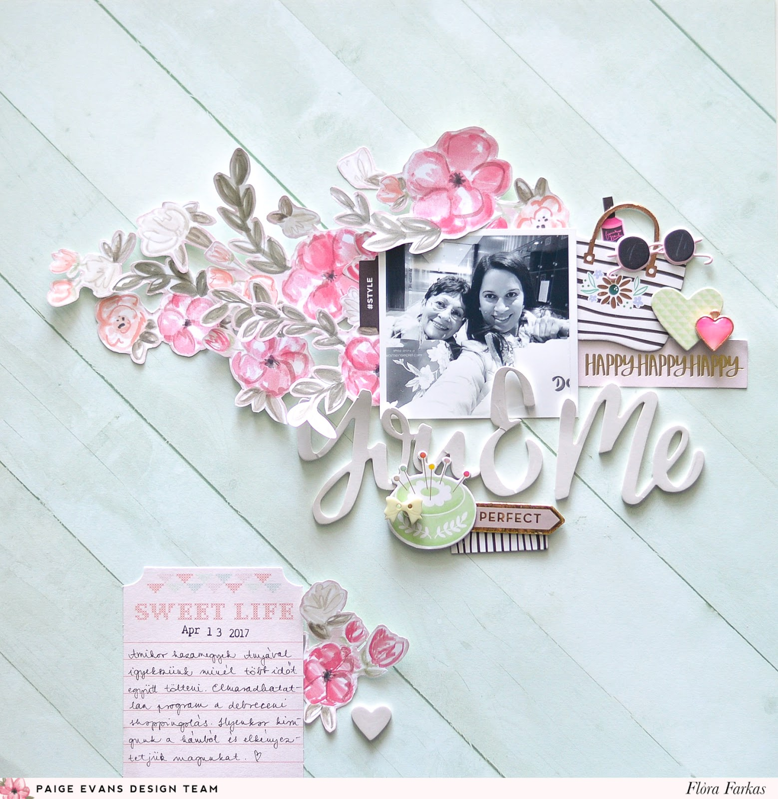 Mixing Pink Paislee Paige Evans Take Me Away and Oh My Heart collections by @floramfarkas .