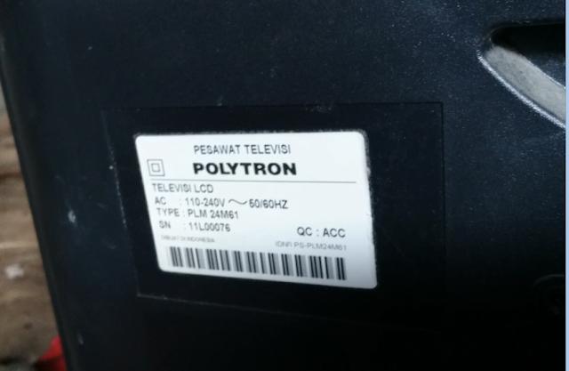 """Kerusakan Tegangan Audio TV LCD POLYTRON 24"""" (PLM 24M61)"""