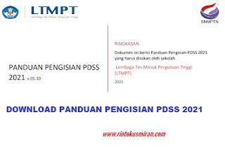 DOWNLOAD PANDUAN PENGISIAN PDSS 2021