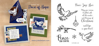 Stampin' Up! Dove of Hope Christmas Card Kit  ~ August-December 2020 Mini Catalog ~ Stamp of the Month Club Card Kit ~ www.juliedavison.com