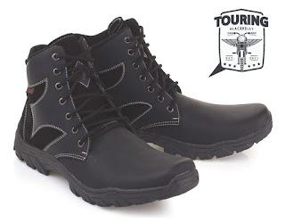 Sepatu Touring Cibaduyut Kulit Asli LSM 879
