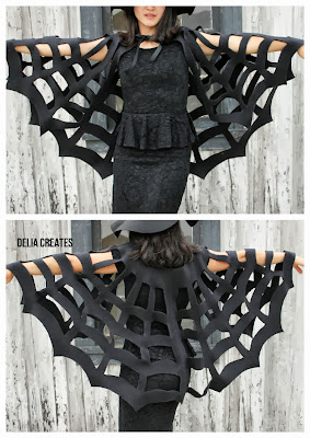 disfraz murciélago, halloween, capa alas, diy, fieltro