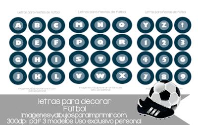 letras de futbol para imprimir