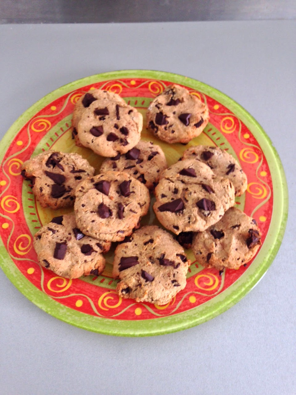 cookies chocolat farine châtaigne/riz