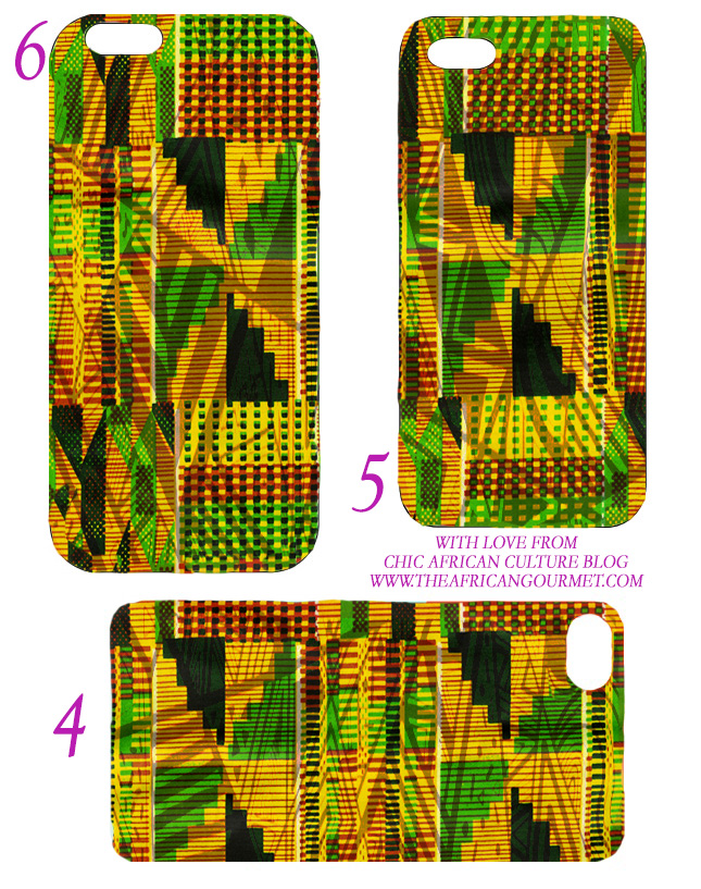 Templates for iPhone 4, 5 and 6 DIY African Kente cloth print
