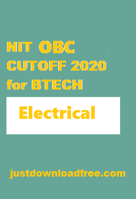 NITs Electrical OBC CUTOFF 2020 for BTECH (ROUND 6 RANK WISE)