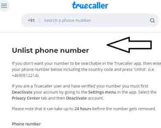 Delete Truecaller Account Remove Your Mobile Number Truecaller Database