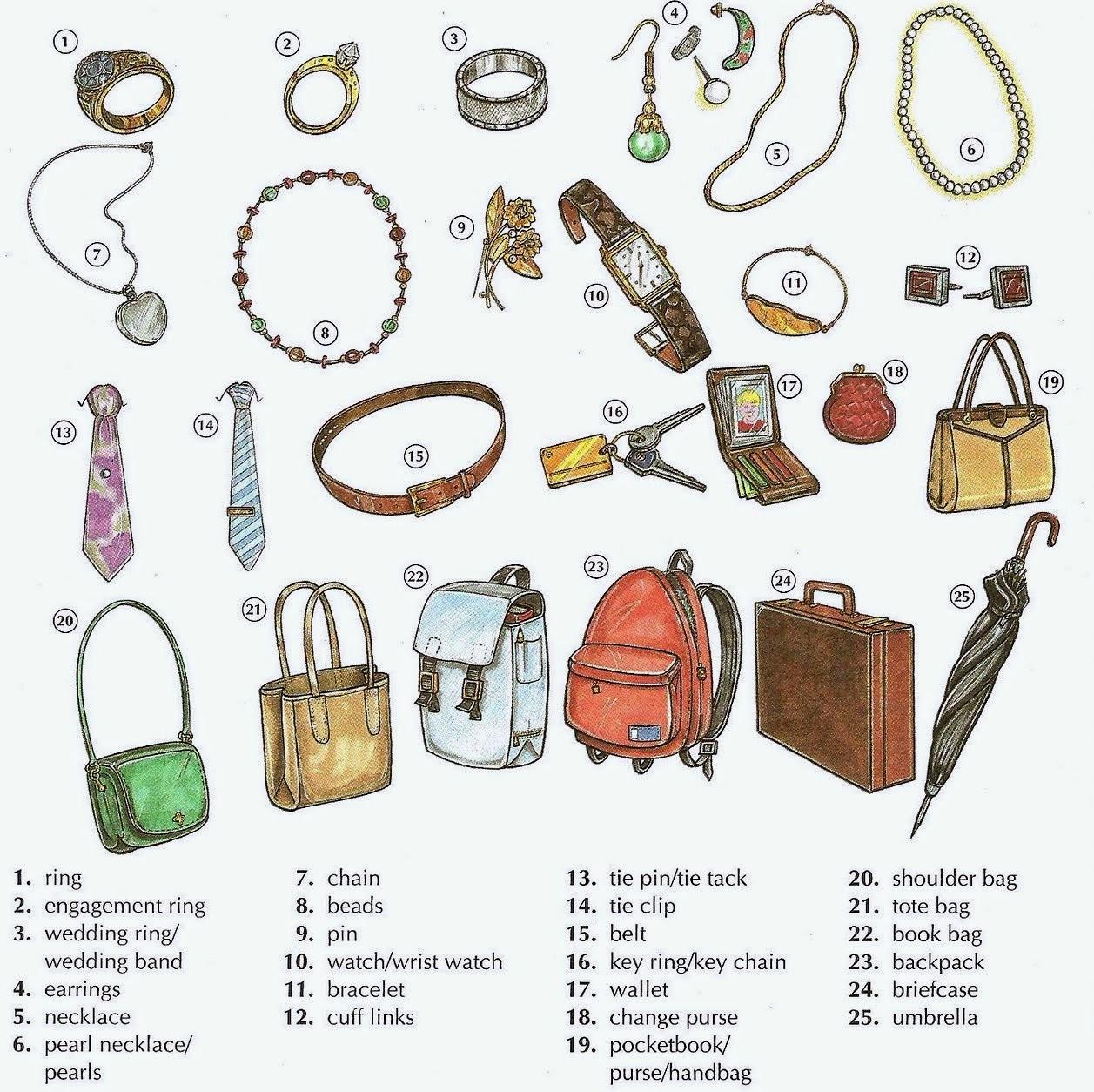 Lestoenglish Accessories Vocabulary