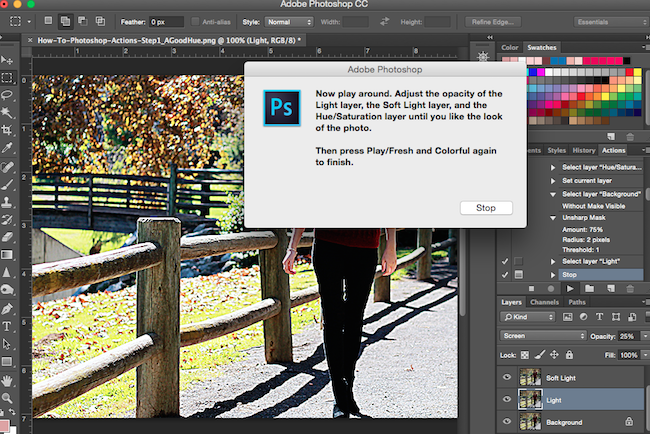 How-To Edit Photos Using Photoshop Actions
