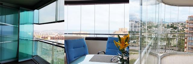 El acristalamiento ideal gracias a las cortinas de cristal