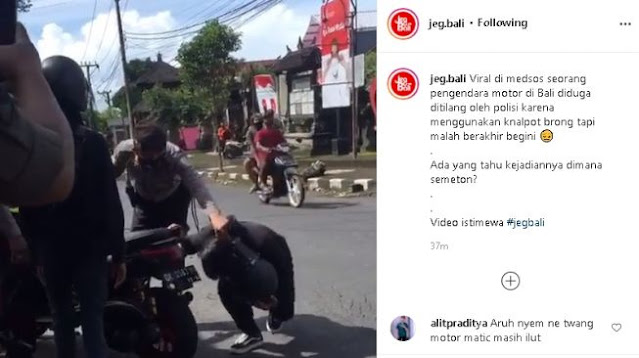 Polisi Razia Knalpot Lupa Motornya Matic, Akhirnya Ngacir, Dituntut Ganti